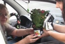 """Дзержинские водители получат в подарок """"Цветки жизни"""""""