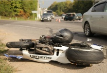 В Дзержинске гонки на мотоцикле закончились на обочине шоссе
