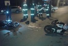 Два мотоцикла «Хонда» столкнулись ночью в Дзержинске