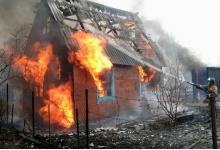 Садовый дом сгорел ночью в Дзержинске