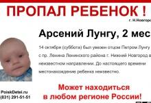 Волонтеры просят помощи у жителей Дзержинска в поисках 2-месячного малыша