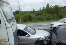 Массовое ДТП произошло на трассе под Дзержинском