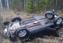 Автомобилистка не справилась с внедорожником и улетела в кювет в пригороде Дзерж