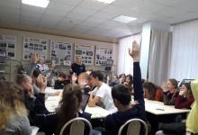 Сотрудники Дзержинской Госавтоинспекции встретились с активистами отрядов ЮИД