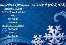 В ближайшие выходные, 8-9 декабря, ФОК «Ока» в Дзержинске приглашает на каток.