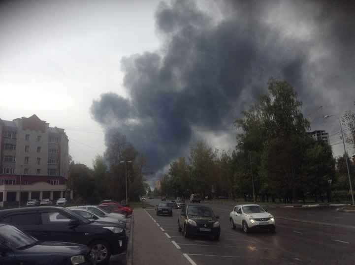 Пожар произошел нанефтеперерабатывающем заводе вНижегородской области