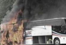 В Дзержинске сгорел пассажирский автобус