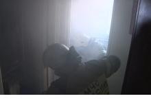 В Дзержинске загорелась квартира