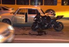 В Дзержинске столкнулись троллейбус, ВАЗ и мотоцикл