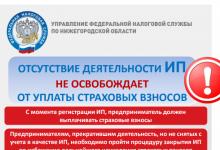 Налоговая информирует жителей Дзержинска о страховых взносах