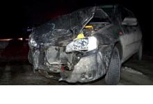 В Дзержинске из-за льда на дороге произошло лобовое столкновение двух машин