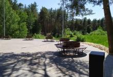 В Дзержинске идет благоустройство парка Утиное озеро