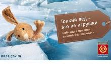 Дзержинцев предупреждают об опасности тонкого льда
